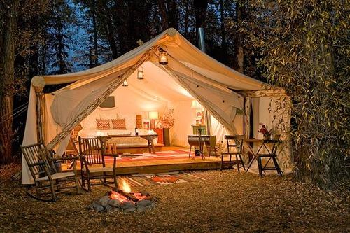 A photo of a posh tent